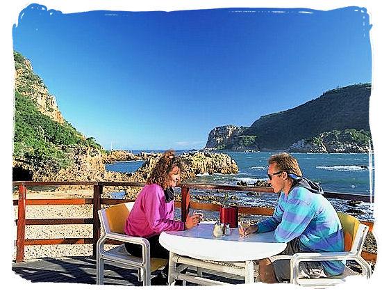 View at the Knysna heads from a restaurant at the lagoon - Knysna Holiday Accommodation, Knysna Hotel Accommodation