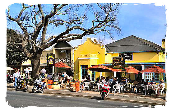 Franschhoek, a delightful village, housing some of the top restaurants and wine cellars in the country - The French Huguenots and the Huguenot Museum in South Africa