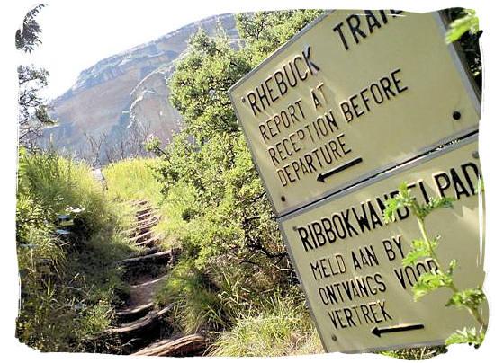 Starting point of the Rhebok Hiking Trail