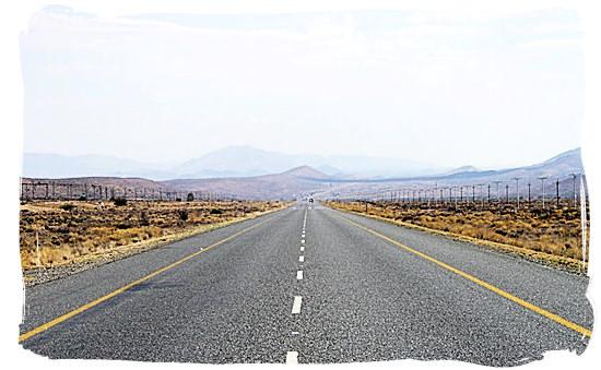 Seemingly endless road in the Great Karoo