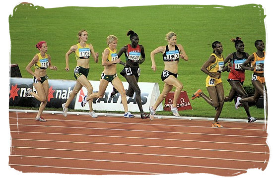 Running the 400 meters - South Africa Sports Top Ten South African Sports