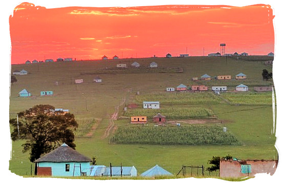 A present-days rural Xhosa settlement in the Eastern Cape provinc - Xhosa people, Xhosa Language and Xhosa Culture in South Africa