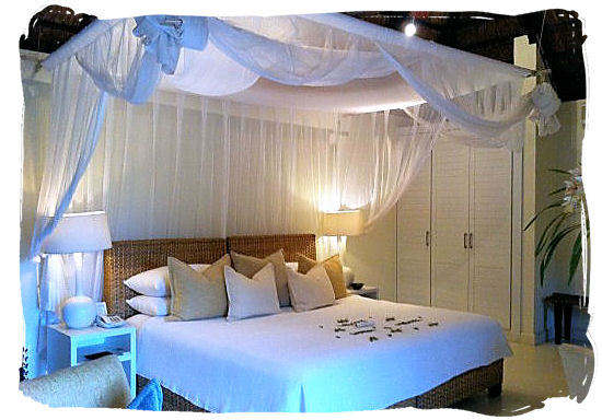 Luxury accommodation with mosquito net protection