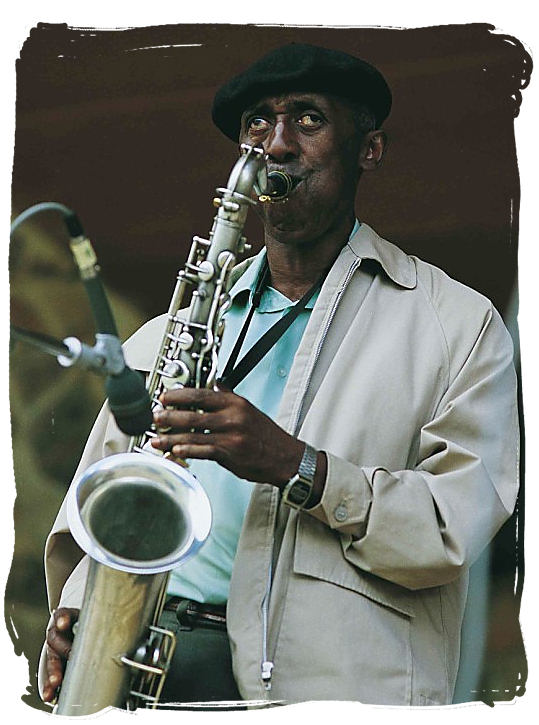 Saxophone at full blast - South African Music, a Fusion of South Africa Music Cultures