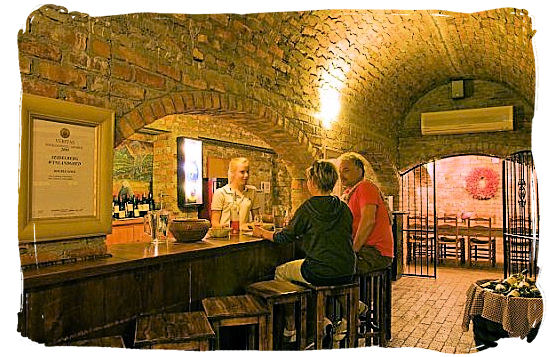 Wine tasting at Seidelberg Wine estate wine cellar, part of the old cellar on the farm - Cape Town South Africa wine country, Wine tours in South Africa