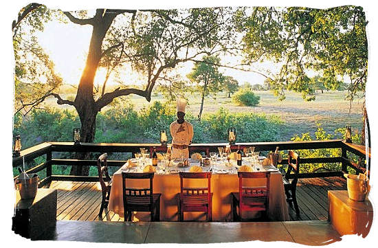 Lunch is ready at Selati camp in the luxury Sabi Sabi game reserve - experience a luxury African safari in South Africa