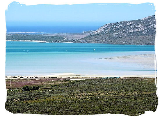 View over Shark Bay beach and the Lagoon beyond - West coast South Africa National Park