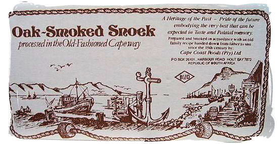 Smoked snoek, a traditional delicacy in the cape - seafood cuisine in South Africa.