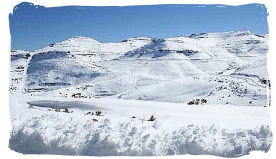 Snow on the Maluti mountains