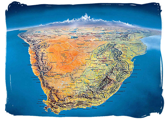 Detailed Map of South Africa, its Provinces and its Major Cities.