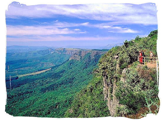 Gods Window, view point along the Panorama Route in Mpumalanga province, South Africa