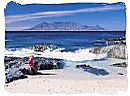 Table Mountain viewed from Blouberg beach