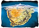 Satellite view map of South Africa