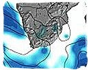 Weather map of South Africa