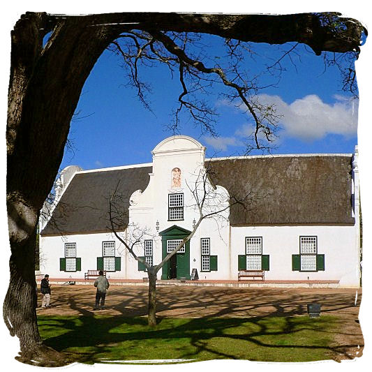 The 18th century manor house and currently wine museum on the Groot Constantia wine estate.