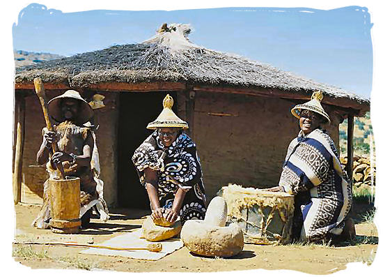 Southern Sotho (Basotho) ladies - Black People in South Africa, Black Population in South Africa