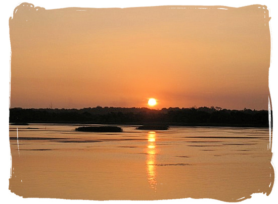 Sunset over the St Lucia estuary - Heritage Sites in South Africa, Nature Reserves of South Africa