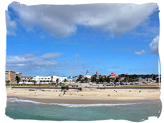 One of the beautiful beaches of Algoa bay, known as Summerstrand beach at Port Elizabeth