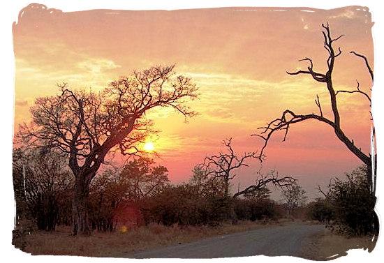 Berg en Dal Rest Camp, Kruger National Park, South Africa - Sunset landscape in the Kruger National Park