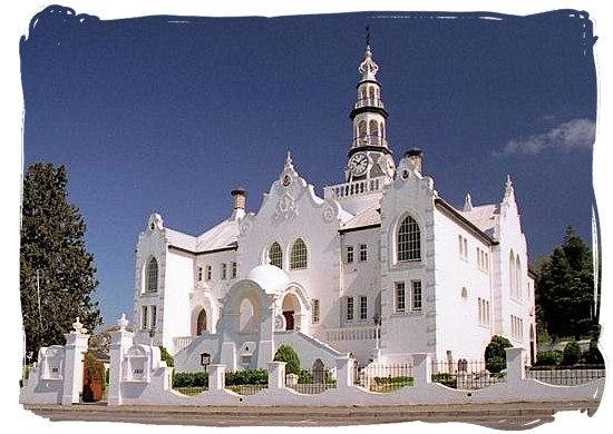 The historical Dutch reformed church building in Swellendam