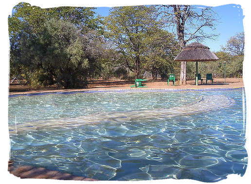 The swimming pool at the - Shingwedzi Rest Camp, Kruger National Park, South Africacamp