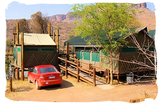 Safari tent accommodation in the Tlopi tented rest camp - Marakele National Park accommodation