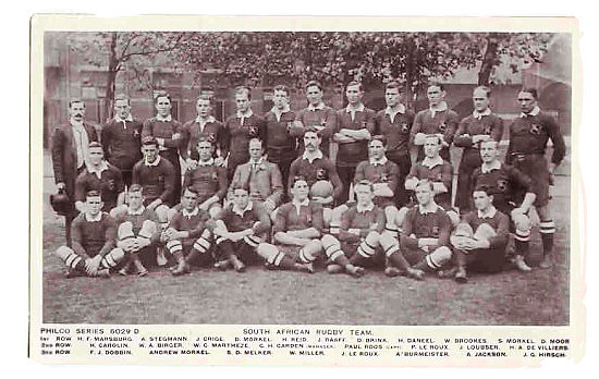 "The 1906 South African national rugby team, the first team to be called ""Springboks"" - South African Rugby, South Africa Rugby Team, Early Days"