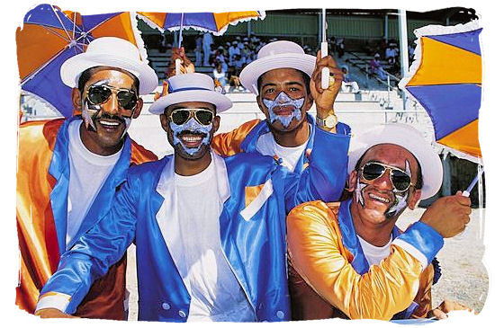 The Cape Minstrels on New Year's day in Cape Town