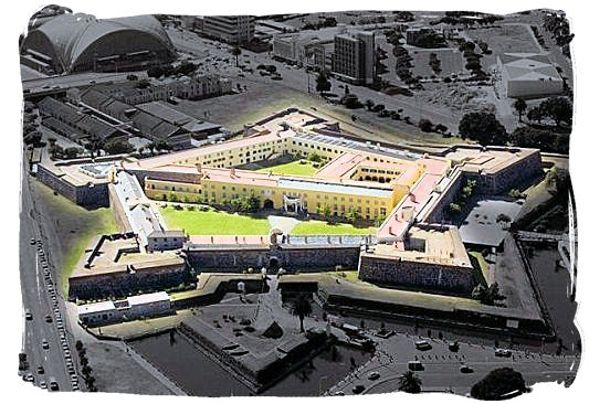 Aerial view of the Castle as it looks like today - Castle of Good Hope, Dutch East India Company, Jan van Riebeeck