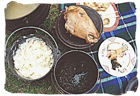 Mieliepap (maize porridge), Skop, Mashonzha and Amanqina, traditional dishes favoured by most black South Africans - South Africa's Traditional African Food