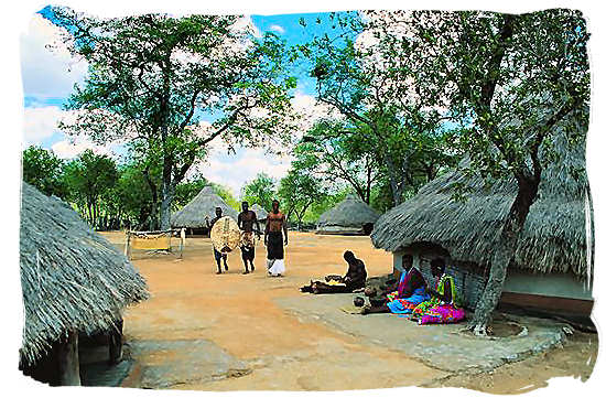 Village life in a Tsonga cultural village - Black People in South Africa, Black Population in South Africa