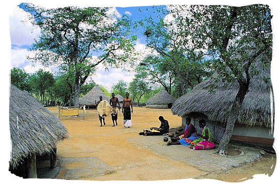 The Tsonga Kraal open air museum in the Hans Merensky nature reserve near Tzaneen, illustrating the way of life of the Tsonga tribe a hundred years ago - Museums in South Africa