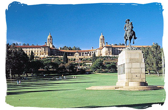 Union Buildings, seat of the South African government - Colours of the South African Flag, Flying the South Africa Flag