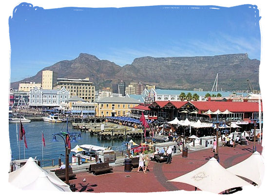 The Victoria & Alfred Waterfront with Table Mountain and Devils Peak as backdrop - City of Cape Town South Africa, Tours and Travel Guides