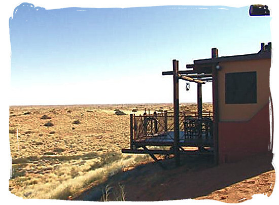 View from one of the accommodation units at Kieliekrankie - Kgalagadi Transfrontier Park in the Kalahari