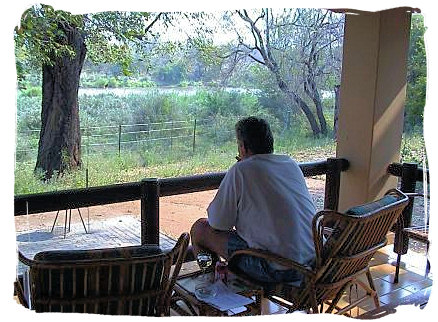 View from a cottage veranda at Sirheni camp