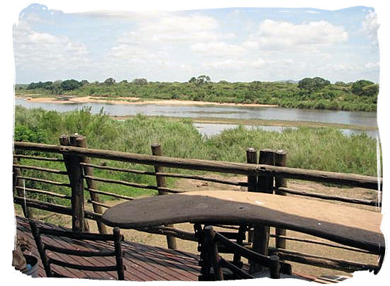 Panoramic view from the viewing deck at the Lower Sabie Rest Camp in the Kruger National Park, South Africa