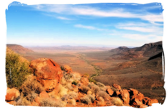 Stunning view from the top of Gannaga Pass - Tankwa Karoo National Park, National Parks in South Africa