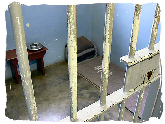 View of Nelson Mandela's 3 x 3 meters prison cell on Robben Island - Amazing Robben Island tour, visit Nelson Mandela prison cell