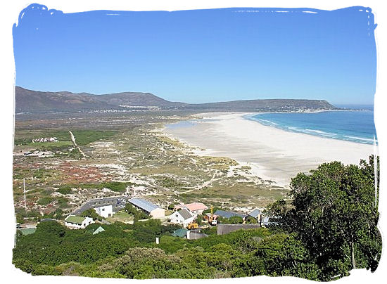 View of the beautiful Noordhoek beach from Chapman's Peak drive - Cape Town Sightseeing Highlights of the Cape Peninsula South Africa