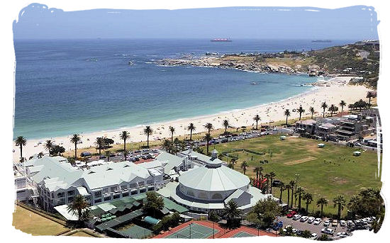 View of the Bay hotel and the beautiful Camps Bay beach - From luxury to cheap accommodation in Cape Town and Cape Peninsula