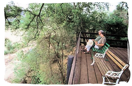 Game viewing deck at Roodewal Bush Lodge