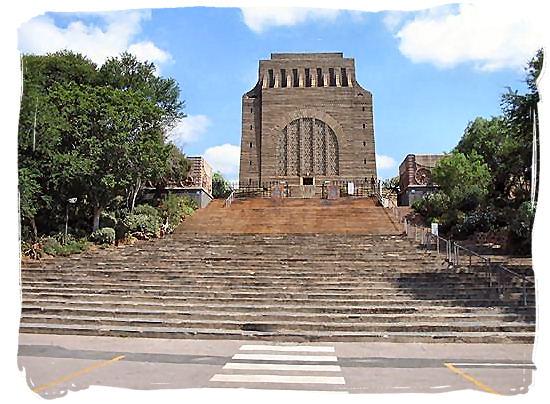The Voortrekker monument in Pretoria in commemoration of the Voortrekkers - The Great Trek in South Africa