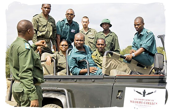 Students attending a natural resource management course at the Southern African Wildlife College in the Limpopo Province - languages of south africa, south african language