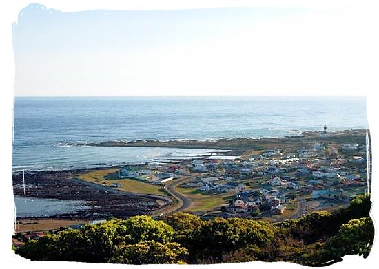 The town of L'Agulhas nearby the Agulhas National park
