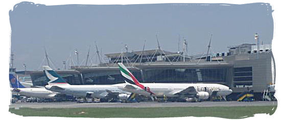 On the apron of Oliver Tambo International Airport at Johannesburg