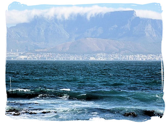 Cape Town and Table Mountain viewed from Robben Island - City of Cape Town South Africa, Tours and Travel Guides