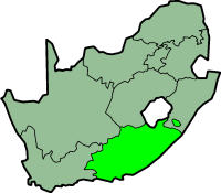 Eastern Cape province - map position