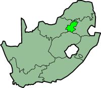 Gauteng province - map position