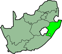 Kwazulu-Natal province - map position